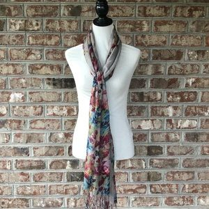 "Nicole Marciano Floral Scarf Wrap approx 29"" x 80"""